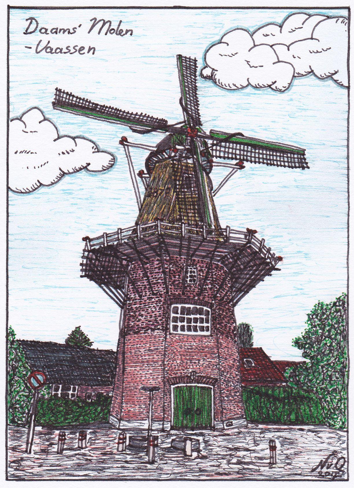 Daams Molen - tekening Natasja (kleine rand)